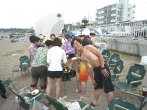 海水浴外乗 ランチはBBQ!肉!ビール!