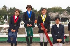 第1回 JBGチャレンジカップ 馬場馬術競技 表彰式