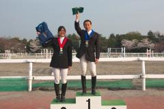 第1回 JBGチャレンジカップ 障害馬術競技 表彰式